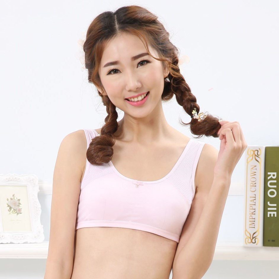 5313 New Girls Bra And Panty Women Cotton Bra India Student Clothing Good Quality Underwear For Developing Girls