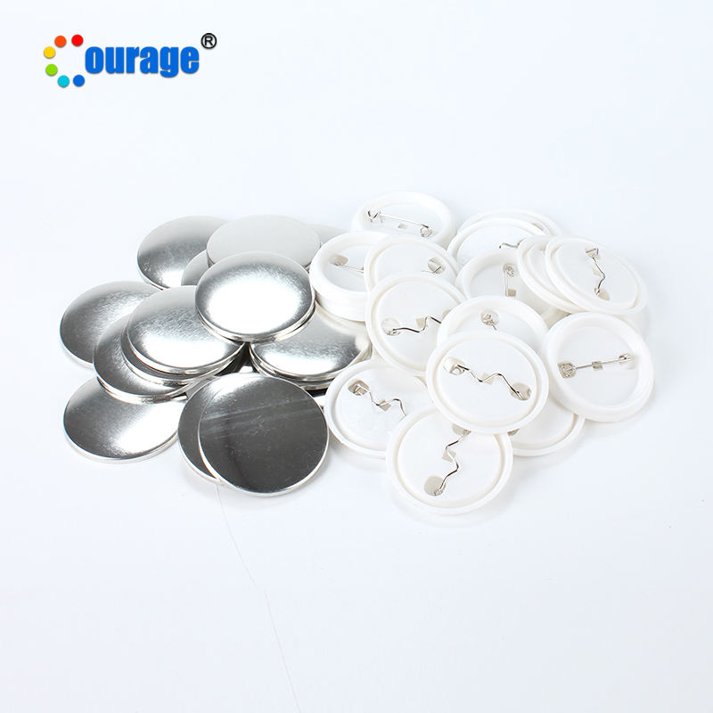 China supplier cheap customs metal pin button plastic round blank sublimation badge