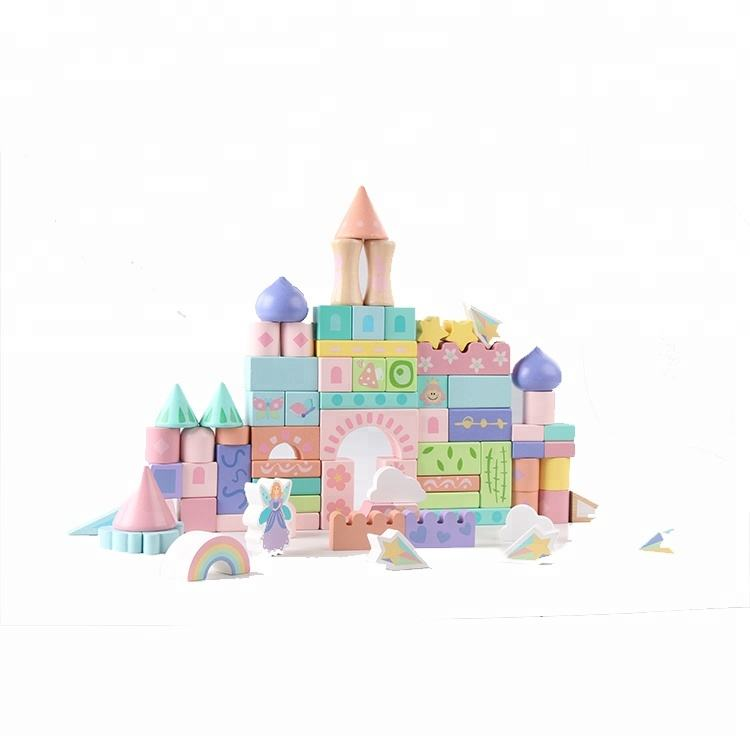 Children Toys Building House Blocks Wooden Block