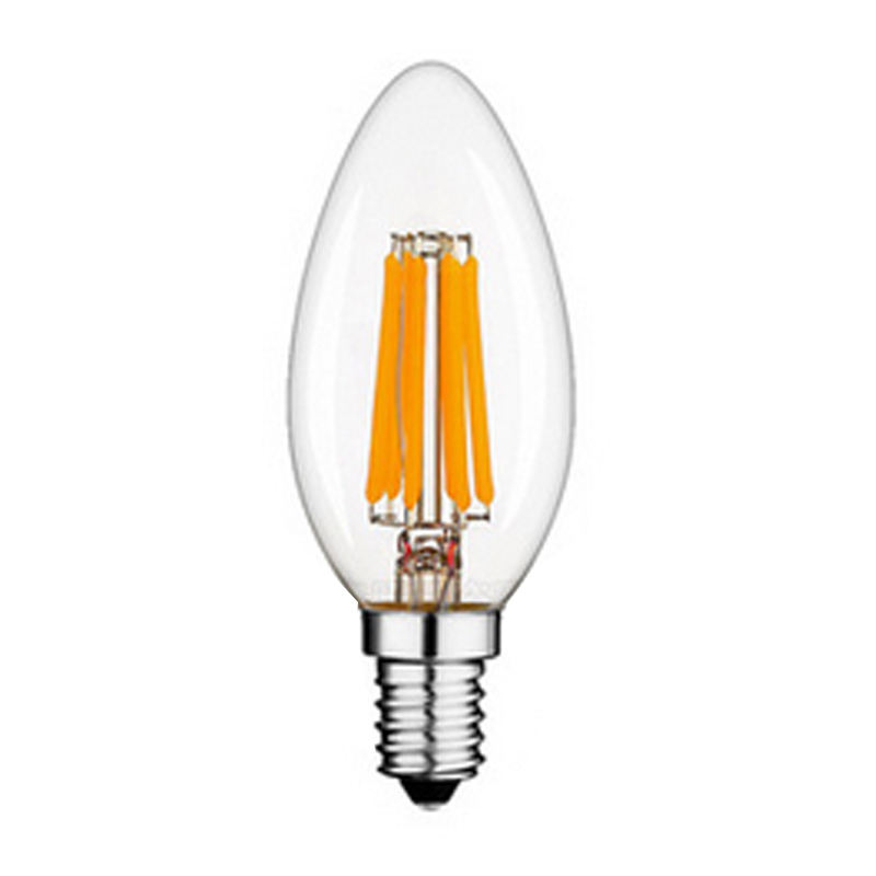 Amber color Candle 빛 Lamp C35 LED 필라멘트 1.75mm 로 전구 4 W 6 W 8 W LED E14 E12 밍 AC110V 220 V LED