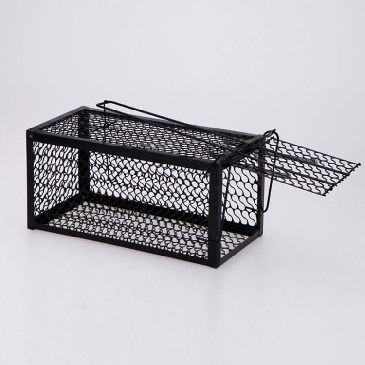 Door Humane Animal Live Cage, Rat, Mice, Mouse and More Small Rodents Irony Black Trap Cage