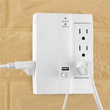 6 Outlet wall tap with phone usb charger