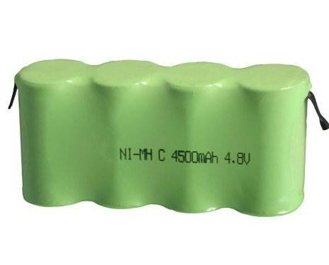 A Grade Quality Guaranteed C 4500mAh 4.8V Ni-MH Rechargeable Battery Pack