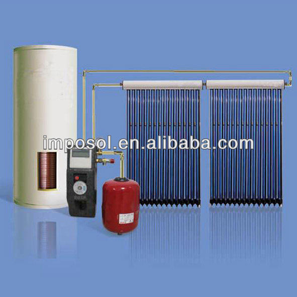 hot water heating system evacuated tube solar water splitting cells