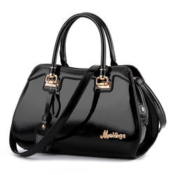 Black purses and handbags pu leather messenger bag