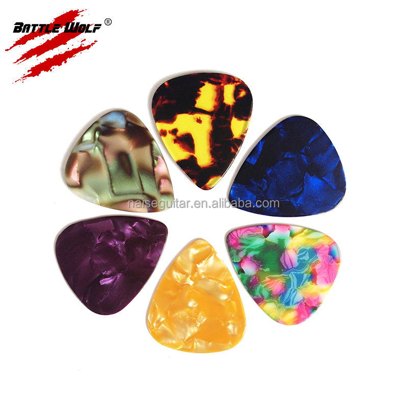 Colorful Celluloid Material Mother Pearl Sheet Guitar Picks
