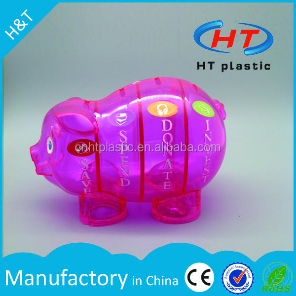 HTPE229 Wholesales Money Saving Box 2017 for Shopping Imprint Promotional Logo Customized Piggy Bank/Coin