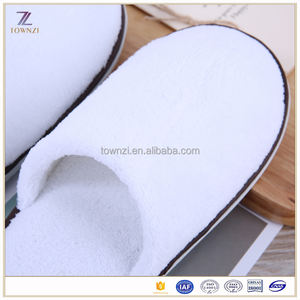 Cheap Bathroom White Hotel Closed Toe Slippers