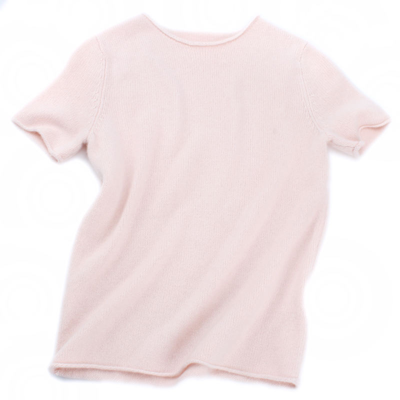2019 Spring Women's 100% Cashmere 7GG Short Sleeve Pullover Sweater