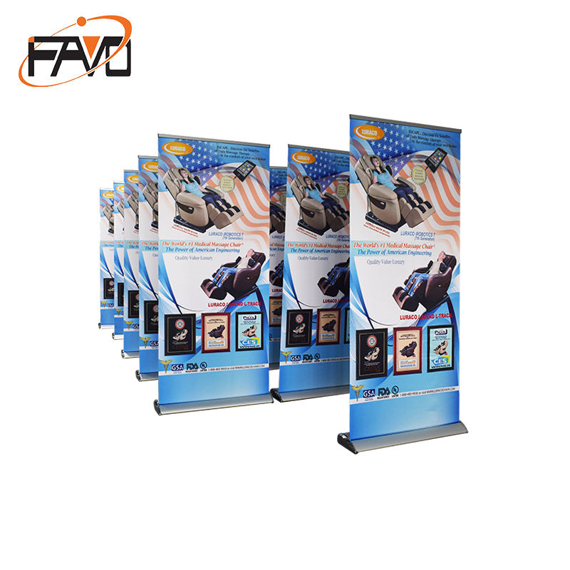 Custom size pull up display flex roll up banner stand 80x200