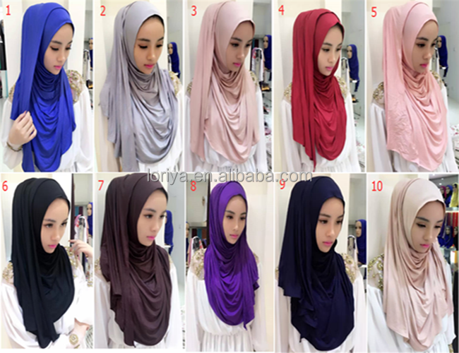Elegant Muslim Accessory Women Digital Printed Square Tudung jersey Scarf Or Shawl