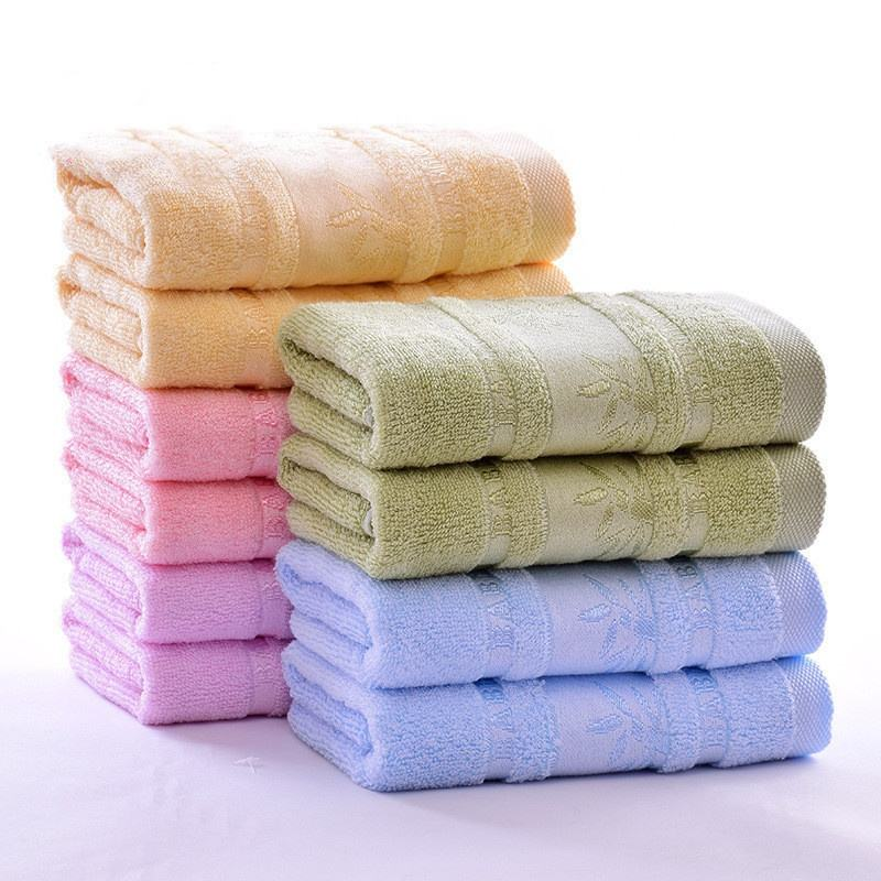 Sublimation super soft luxury jacquard bamboo fiber antimicrobial face bath towel