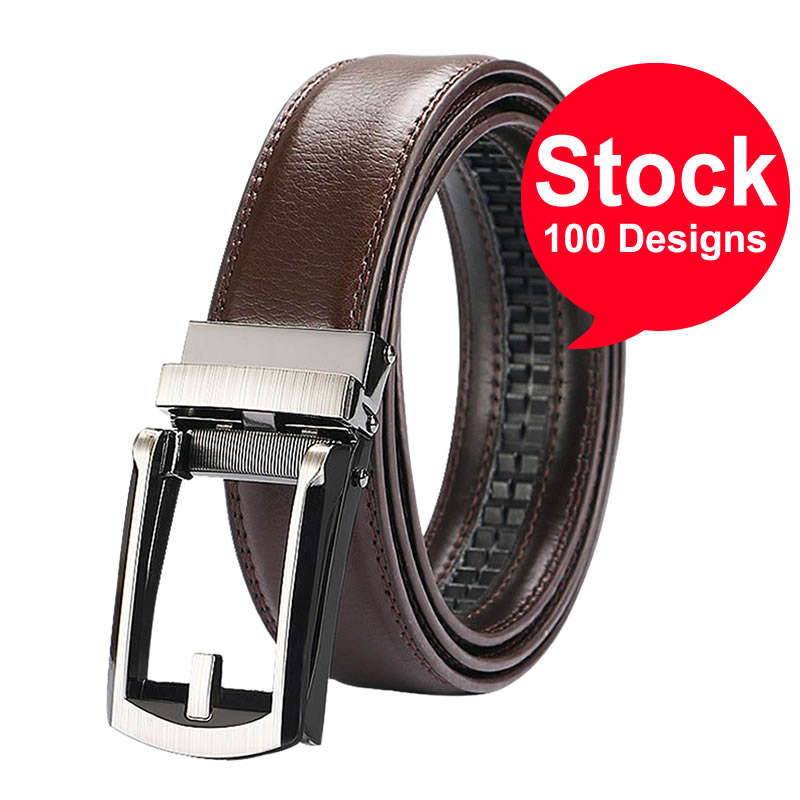 Hot Selling Top Quality Genuine Leather Click Belt Without Holes/Adjustable Automatic leather belt