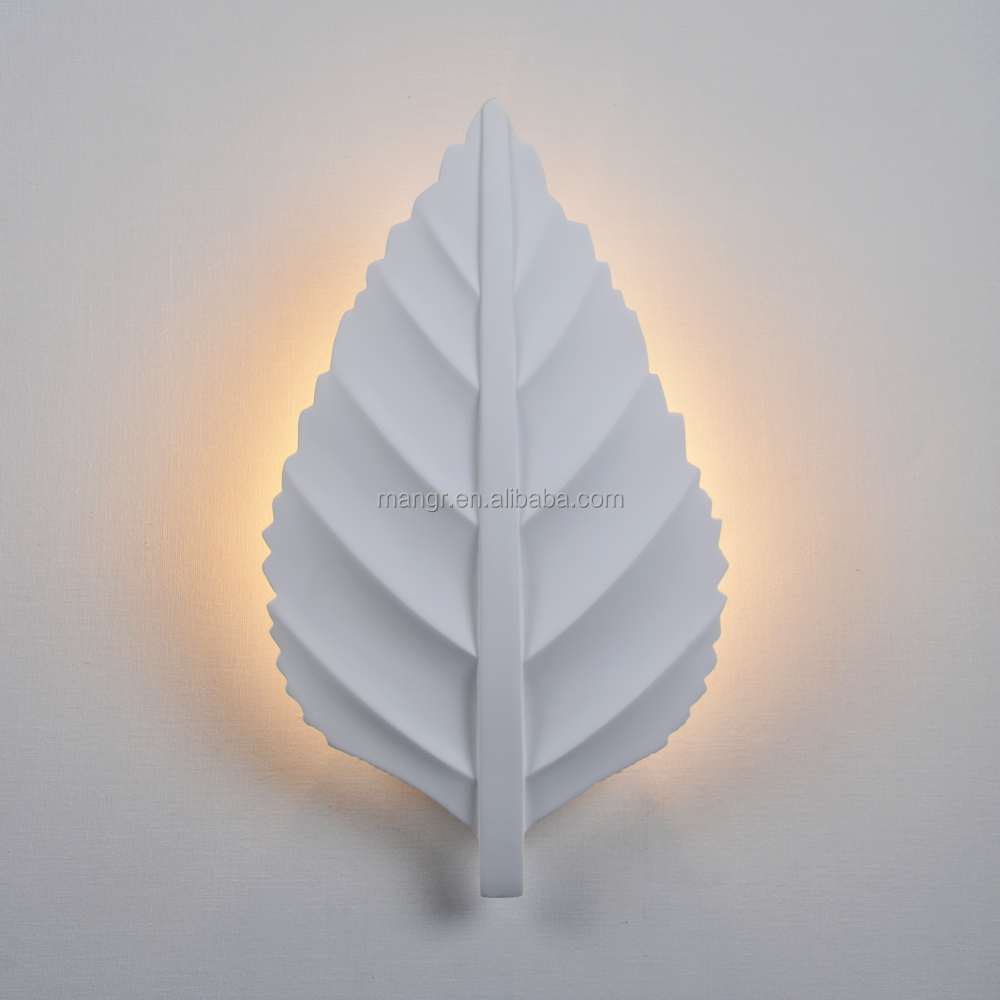 Wall-Light-MG-3044 The new design of modern indoor wall lamp leaf shaped gypsum wall light LED light for Hotel