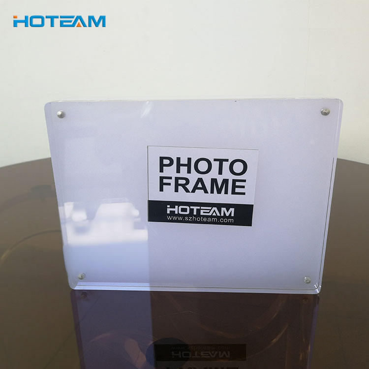 Glas <span class=keywords><strong>acryl</strong></span> foto frame clear factory direct koop Dubbelzijdig Glas Fotolijst