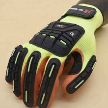 factory latex coated work safety gloves for shock protection guantes de impacto