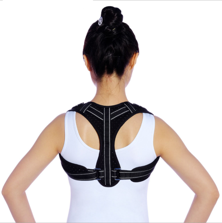 Corrective sitting posture relieves back pain and low back pain posture corrector belt with reflective strip