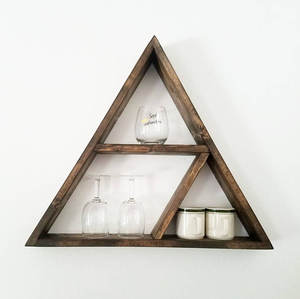 Best Selling Geometric Wood Wall Decor - Modern Shelving,Triangle Shelf