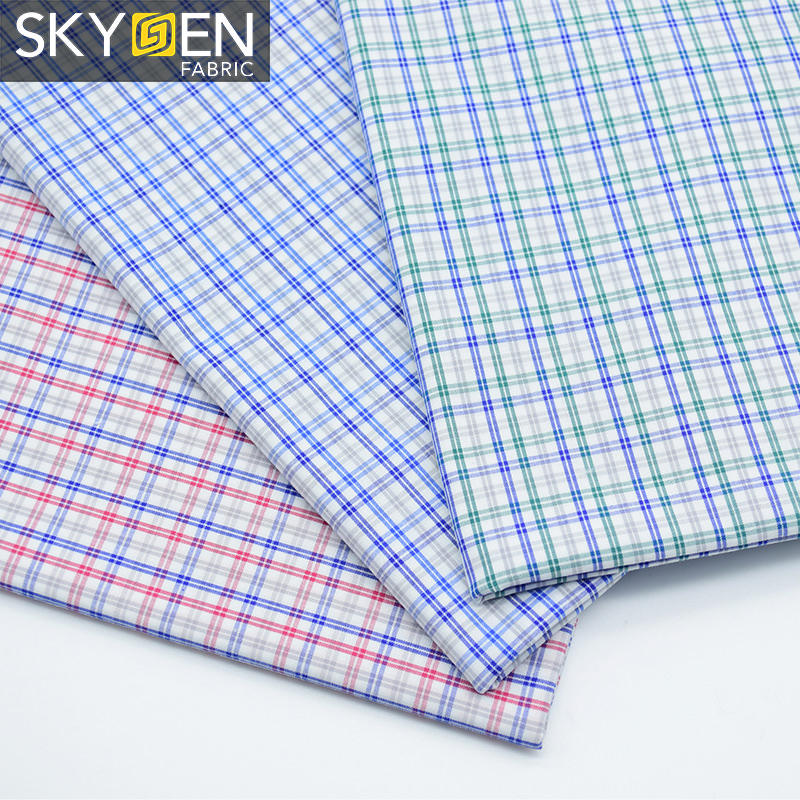 Wholesale Woven Fabric 100 Cotton Yarn Dyed Gingham Check Shirt Cloth