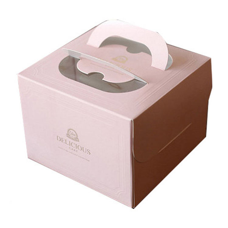 Recycled handmade food grade cake packaging boxes