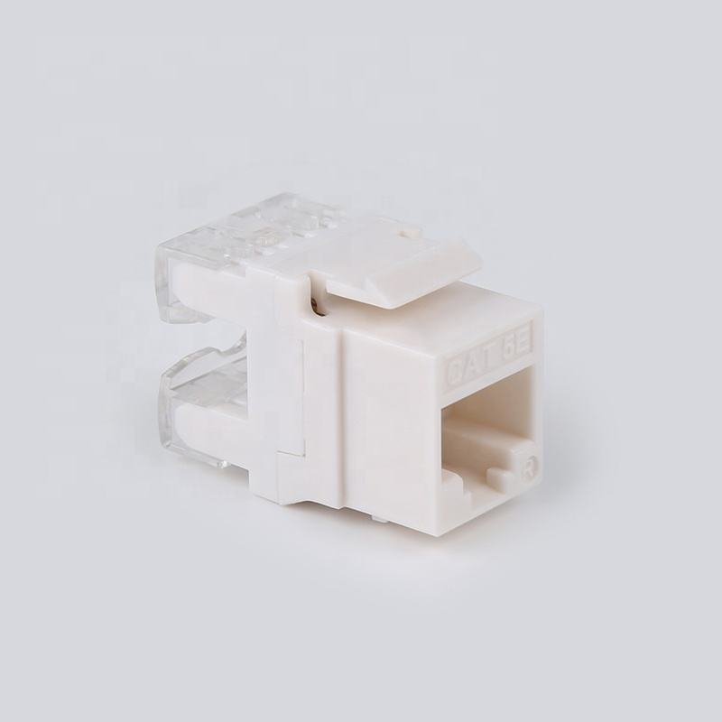 high quality dual110 type 180 degree utp rj45 cat 5e keystone jack for network module