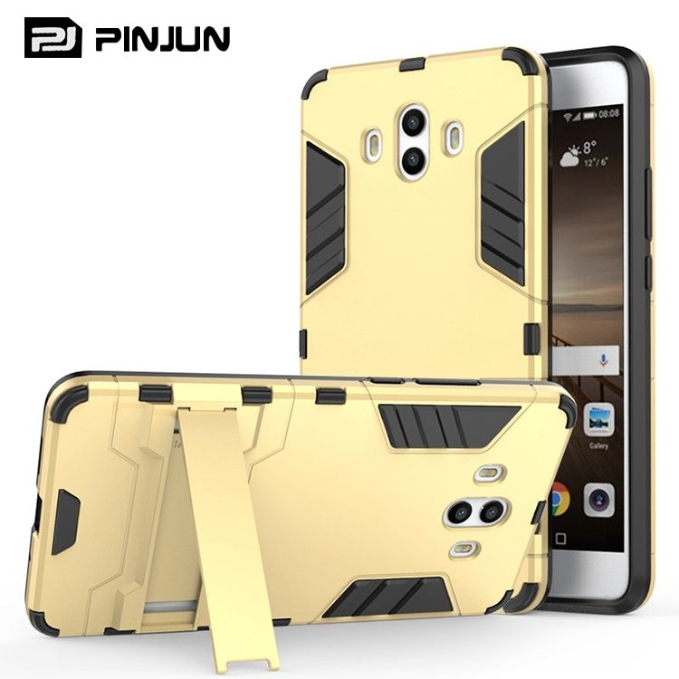shockproof 2 in 1 Iron man armor hybrid phone cover for huawei mate 10 case kickstand