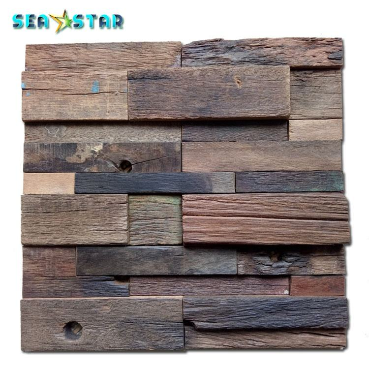 broken reclaimed ship wood sign board decorative interior wall reclaimed wood planks