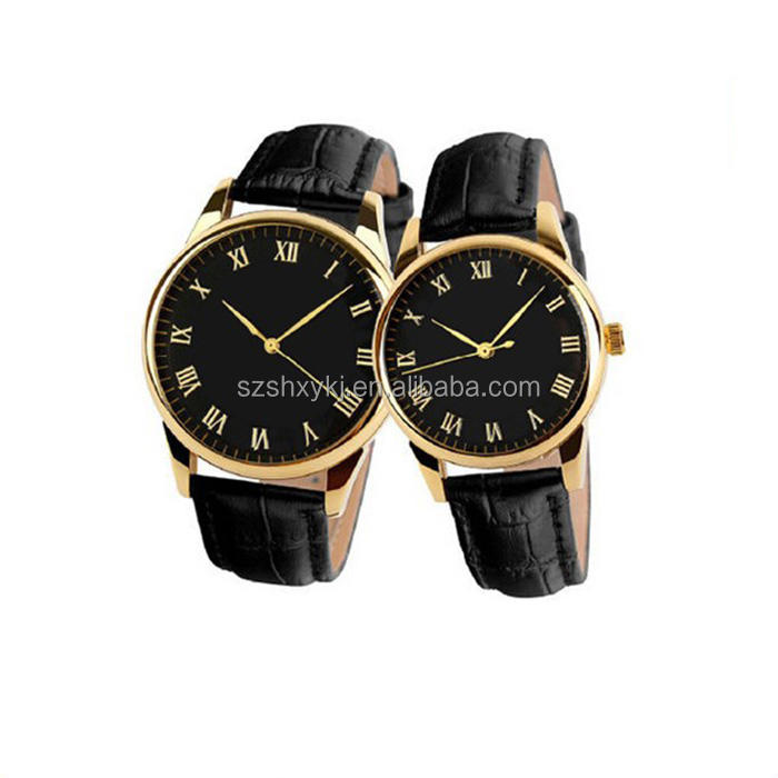 Creative design high quality fashion couple quartz watch