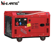 Hot sale 10KVA 198 engine three phase red color diesel generator set