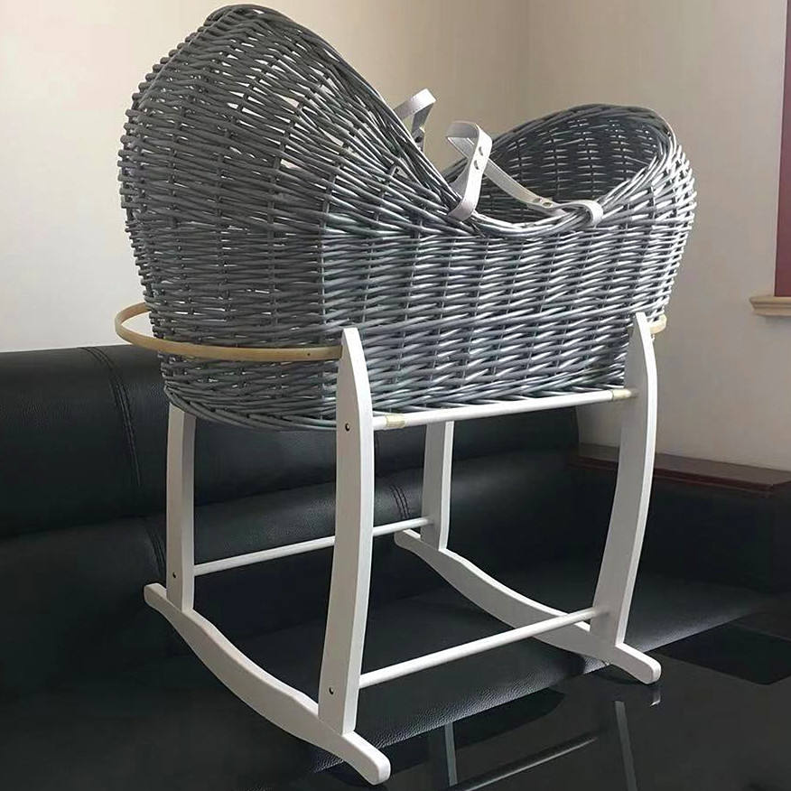 hand made cradle baby moses basket set maize basket corn basket stand