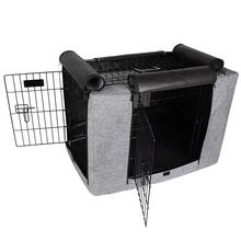 Durable Door Polyester Dog Crate Cover with Mesh Window