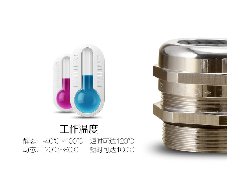 Metal cable gland PG11 Cable Connectors CE SGS