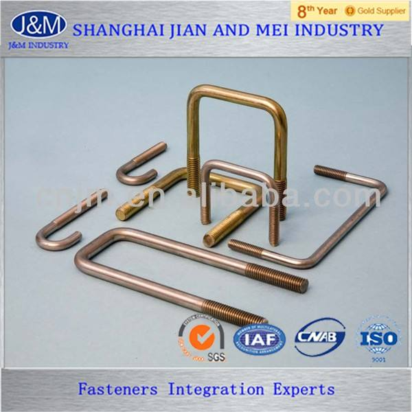 standard rectangular brass u bolt