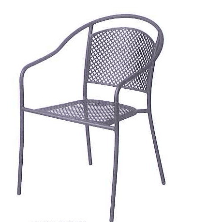 outdoor garden patio aluminum sling dining metal deck chair