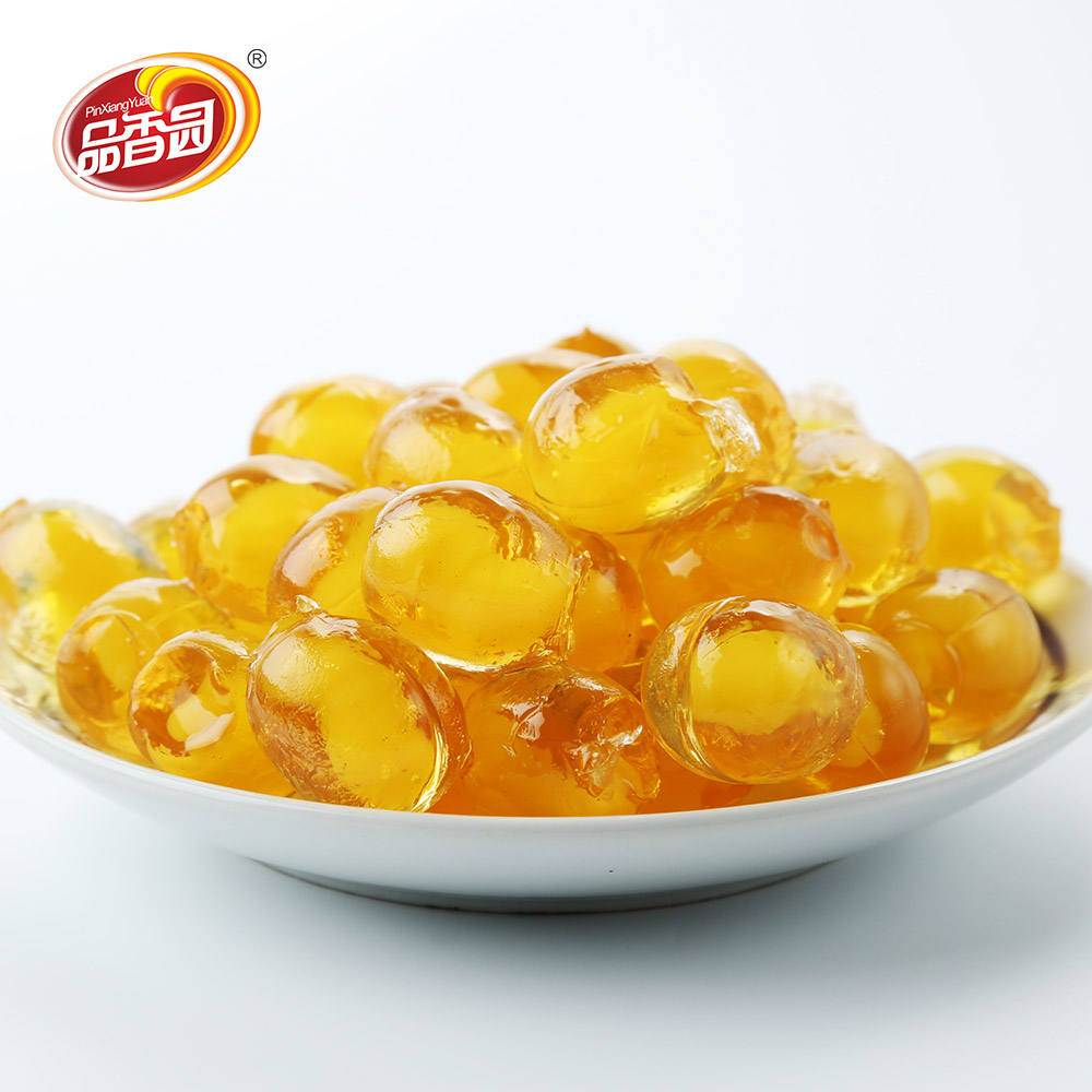 Halal Pineapple Center Filled Soft Sour jelly Candy names Pin Xiang Yuan