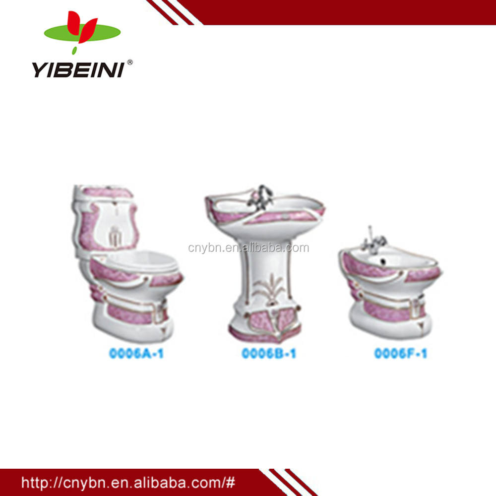 bathroom ceramic sanitary ware suit_ two piece toilet_ wall hung wc_good toilet set