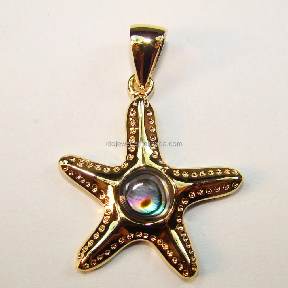 Hot Sale Wholesale 925 Sterling Silver Abalone Shell Pendant For Women