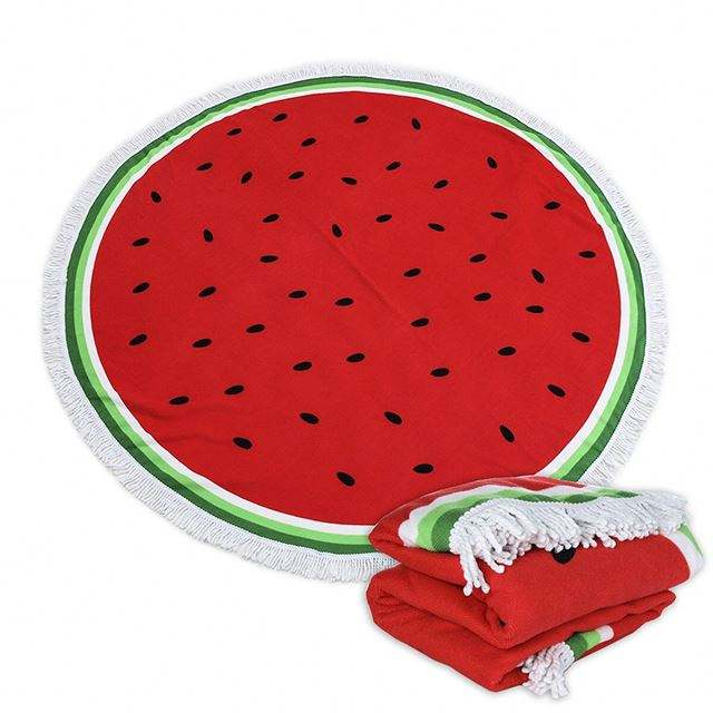 2019 New fashion plus size printing watermelon pattern soft round beach towel