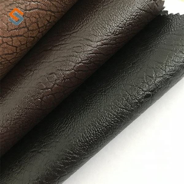 0.9mm pvc sofa material embossed leather seat cover