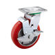 Iron Core Wheels Iron Caster Wheel 150mm Iron Core Pu Cart Korean Caster Wheels