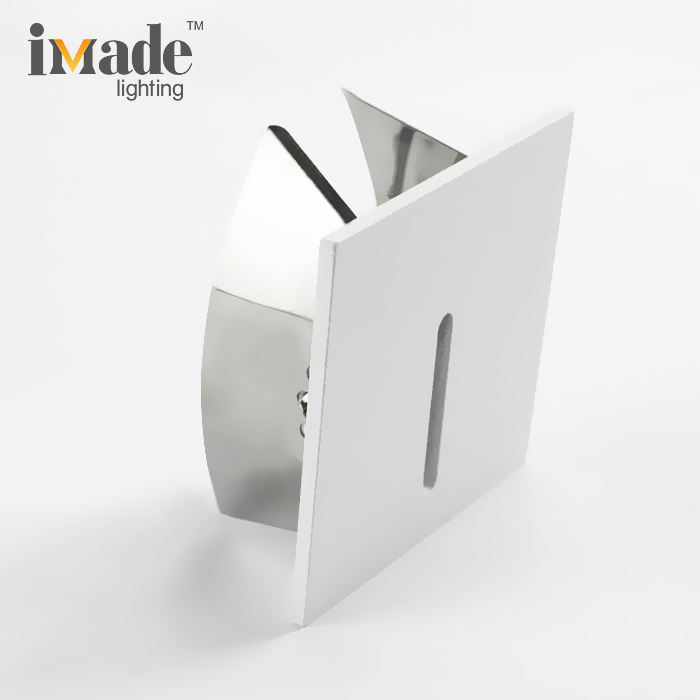 4w 100-240v corridor aluminum step light recessed wall lamp