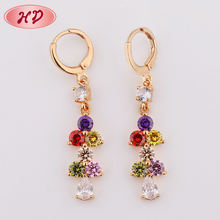 Snowflake 22K Gold Hypoallergenic Hoop Earrings For Girls