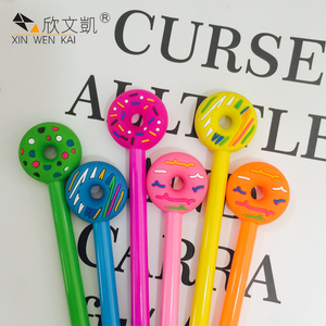 March Expo Wholesale Creative Colorful Plastic Cheap Korea Cute Donut Pens For Kids