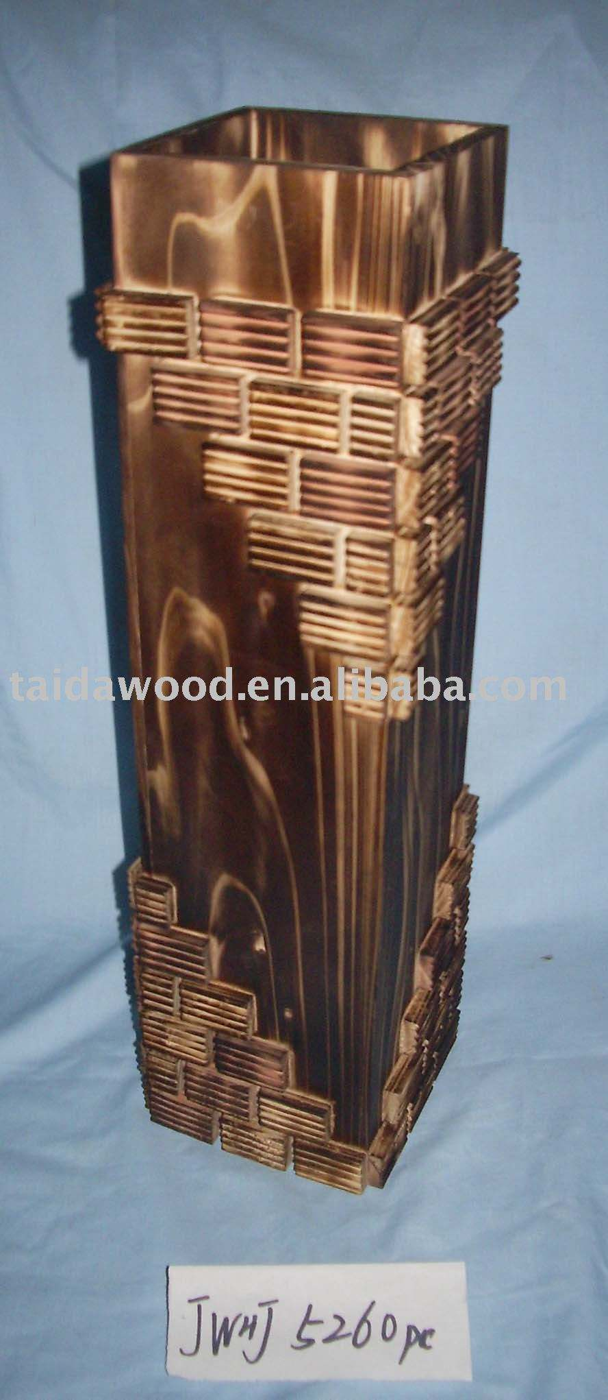 Retro whole wood / woody Mini vase / flower / dining table decoration / hotel tableware