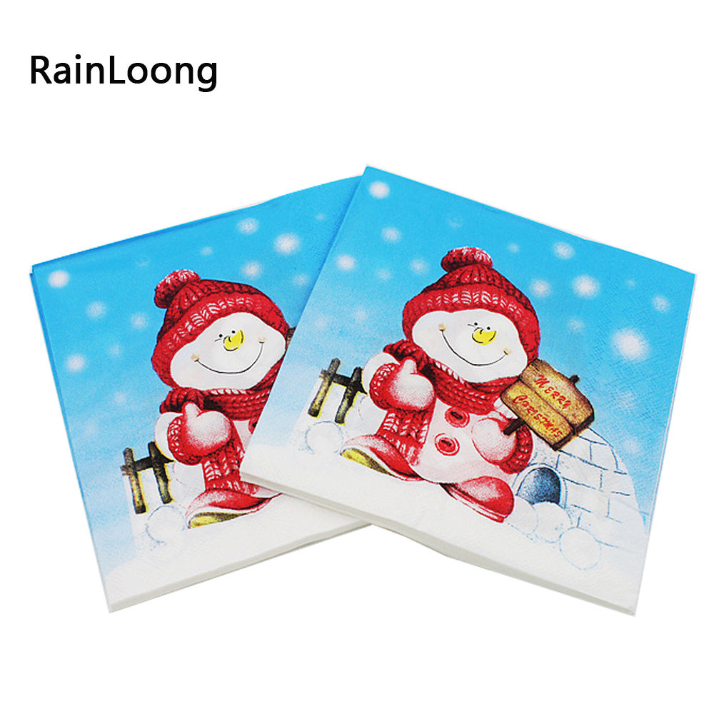 Disposable Folding Type Wholesale Christmas Paper Napkin