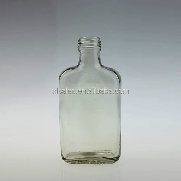 LIQUOR BOTTLE CLEAR 100ML SCREW CAP GLASS BOTTLE VODKA