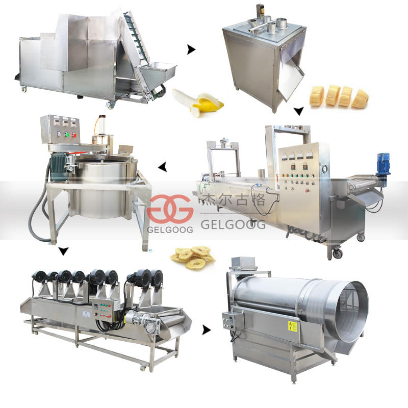 Factory Price Fully Automatic Plantain Chip Make Machine Plant Set Banana Chips Production Line