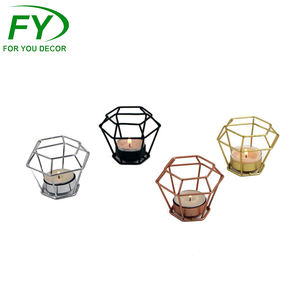 Factory directly supply stainless steel rose gold metal 설정 tealight 캔 서 홀더