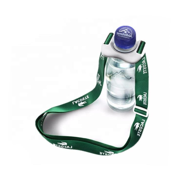 Free Sample Custom Logo Printed Lanyards Minimum Order 1 Piece Drink Bottle Holder Neck Strap