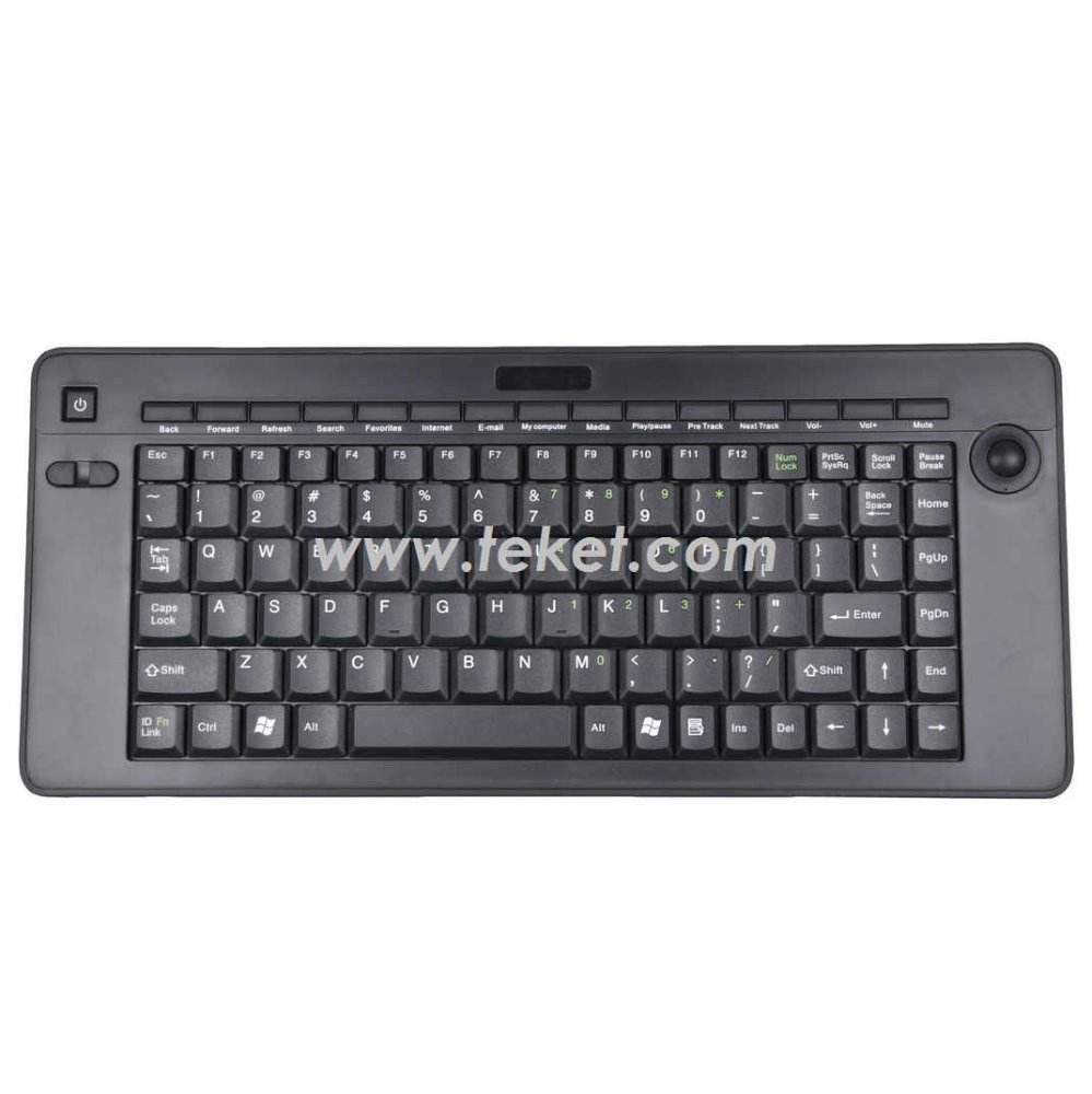 2.4g wireless tastatur mit <span class=keywords><strong>trackball</strong></span> k5 für industrielle, multimedia, Vollansicht